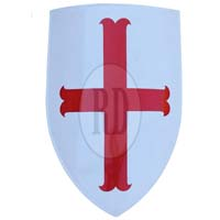 Knights Templar Red Cross Shield