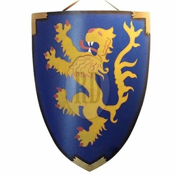 Lion Rampant Medieval Shield