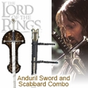 LOTR Anduril Sword and Scabbard Combo