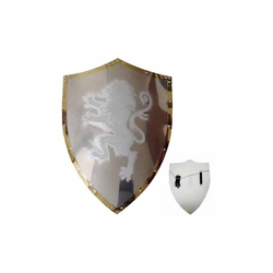 Medieval White Lion Shield