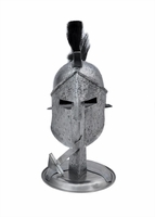 Miniature Spartan Helmet and Stand