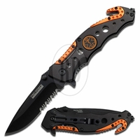 Orange and Black EMT Tactical Knife