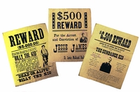 Replica Wanted Poster Set