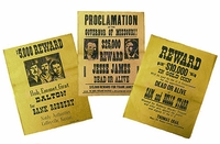 Replica Wanted Posters Set of 3