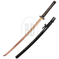 Handmade Rose Gold Carbon Steel Blue Rising Katana
