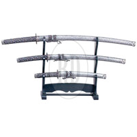 Silver 3pc Samurai Sword Set
