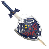 Zelda Sword and Hylian Shield Display