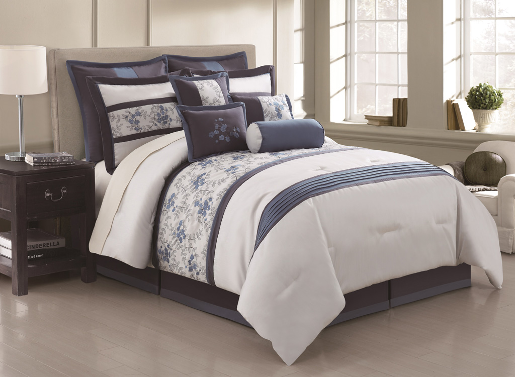 Beautiful Blue and Gray Comforter Set Queen 1024 x 750 · 182 kB · jpeg
