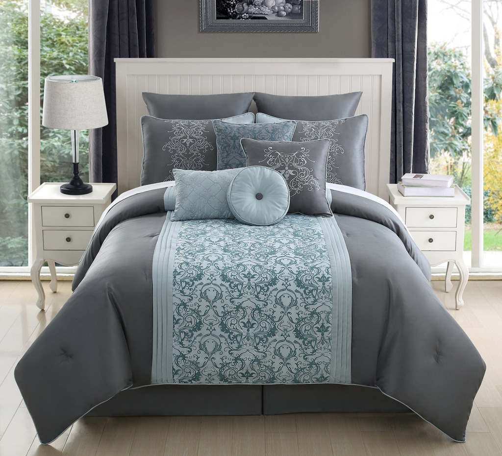Blue And Gray Comforter Sets King Size 2015 Best Auto