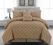 10 Piece Cal King Melia Taupe Bed in a Bag w/500TC Sheet Set