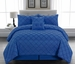 10 Piece Cal King Melia Blue Bed in a Bag w/500TC Sheet Set
