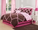 10  Piece Full Farrah Pink and Coffee Bed in a Bag Set
