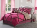 10  Piece Full Leah Pink Bed in a Bag Set