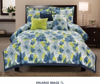10 Piece King Greenwich Cotton Bed in a Bag Set