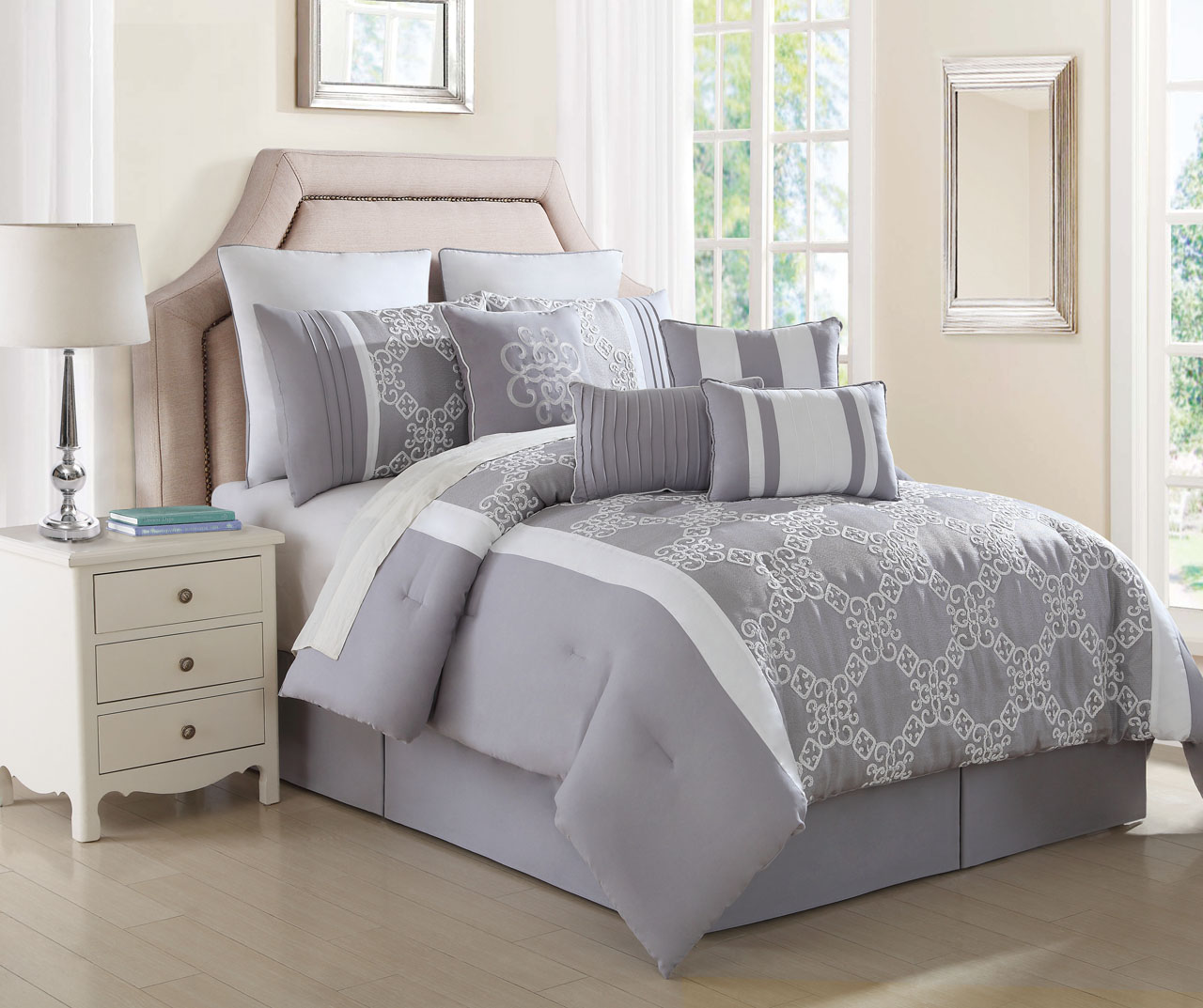 Gray Comforter Lookup Beforebuying