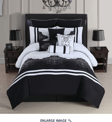 10 Piece King Londres Comforter Set