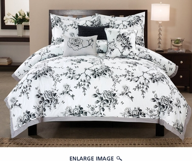 10 Piece King Rose Hill Cotton Bed in a Bag Set
