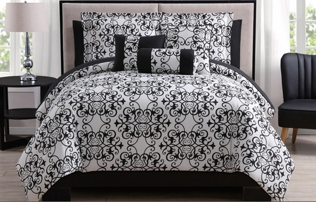 10 Piece Lexie Black/White Comforter Set