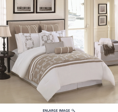 10 Piece Queen Cape Cod Comforter Set