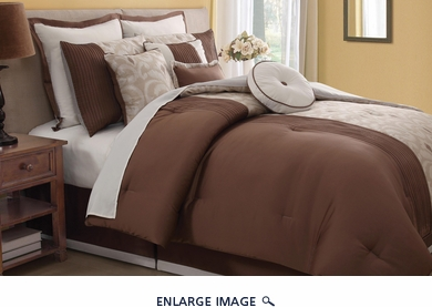 10 Piece Queen Fairmont Comforter Set