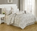 10 Piece Queen Folsom 100% Cotton Comforter Set