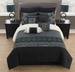 10 Piece Queen Veeda Black and Gray Comforter Set