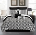 10 Piece Queen Venturi Black and White Comforter Set