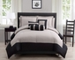 10 Piece Radiance Black/Taupe Reversible Bed in a Bag Set