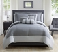 10 Piece Radiance Charcoal/Silver Comforter Set w/ Sheets