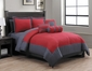 10 Piece Radiance Red/Gray Reversible Bed in a Bag Set