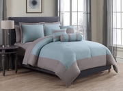 10 Piece Radiance Spa Sage/Taupe Comforter Set w/ Sheets