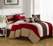 11 Piece Cal King Chicora Bed in a Bag Set