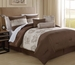 11 Piece Cal King Escapade Embroidered Bed in a Bag Set