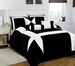 11 Piece Cal King Jefferson Black and White Bed in a Bag Set