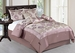 11 Piece Cal King Lavender Floral Jacquard Bed in a Bag Set