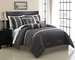11 Piece Cal King Renee Embroidered Bed in a Bag w/500TC Cotton Sheet Set