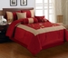 11 Piece Cal King Vallejo Burgundy Bed in a Bag Set