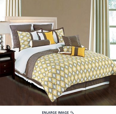 11 Piece Cal King Vortex Bedding Comforter Set