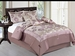 11 Piece Full Lavender Floral Jacquard Bed in a Bag Set