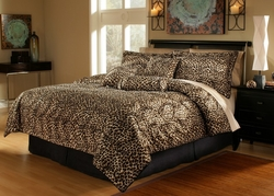 11 Piece Full Leopard Animal Kingdom Bed in a Bag
