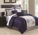 11 Piece King Bexley Embroidered Bed in a Bag w/500TC Cotton Sheet Set
