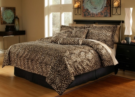 11 Piece King Leopard Animal Kingdom Bed in a Bag