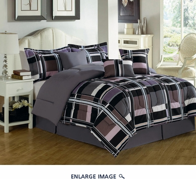 11 Piece King Plethora Bed in a Bag Set
