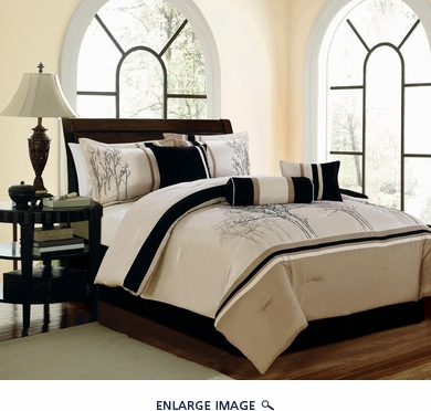 11 Piece King Sanger Embroidered Bed in a Bag Set
