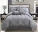 11 Piece Queen Celina Gray Bed in a Bag Set