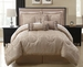 11 Piece Queen Celina Taupe Bed in a Bag w/500TC Cotton Sheet Set