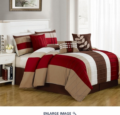 11 Piece Queen Chicora Bed in a Bag Set