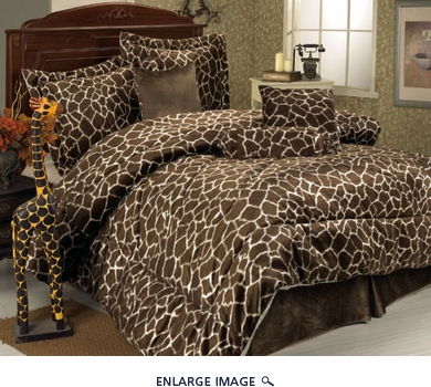 11 Piece Queen Giraffe Animal Kingdom Bed in a Bag
