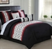 11 Piece Queen Halston Embroidered Bed in a Bag w/500TC Cotton Sheet Set