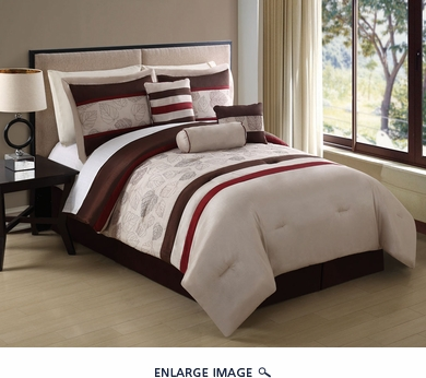 11 Piece Queen Lansing Embroidered Bed in a Bag Set